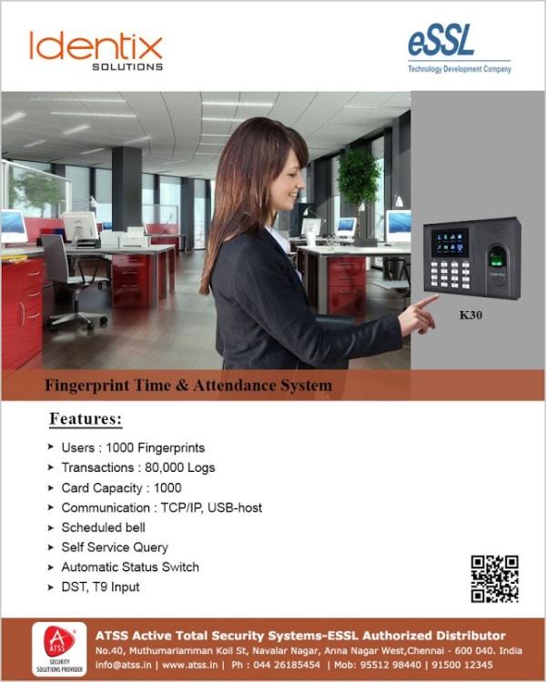 Fingerprint Time Attendance & Access Control K30
